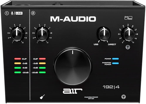 M Audio AIR 192 4   2-In/2-Out 24/192 USB Audio Interface