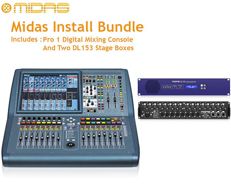 MIDAS PRO1 Install Bundle: 1x PRO1IP  and 2x DL153 Stage Boxes