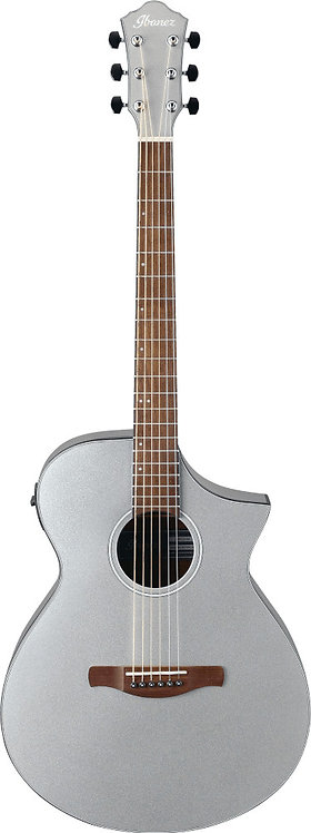 Ibanez AEWC10 SM: Thin Body Acoustic/ Electric Silver Metallic