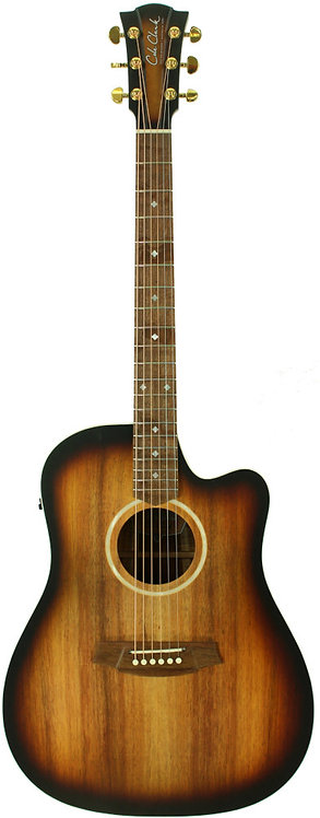 Cole Clark Fat Lady 2: Sunburst with Blackwood top, back and sides.