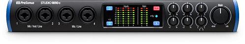 PreSonus STUDIO 1810c: 18X10 USB-C / 24-bit/192kHz, w/4 Mic inputs