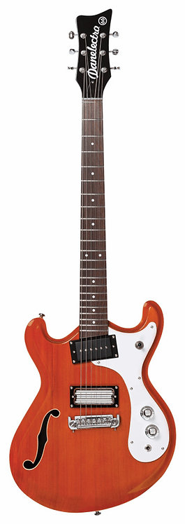 Danelectro THE '66™: Reversed double cutaway offset horn shape Semi-hollow body