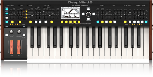 Behringer DEEPMIND 6: True Analog 6-Voice Polyphonic Synthesizer