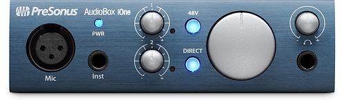 PreSonus AudioBox iOne 2x2 USB 2.0 / iOS interface w/1 Mic input, Studio One Art
