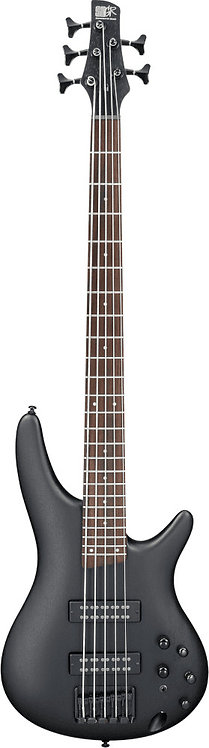 Ibanez SR305EB: 5 String Bass With PowerSpan Dual Coil pickups Weathered Black