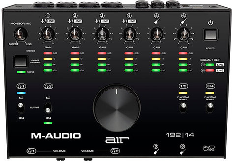 M Audio AIR 192 14  8-In/4-Out 24/192 USB Audio Interface