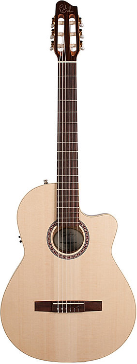 Godin Nylon Arena CW QIT: Thinline Cherry Back & Sides, Spruce Top, QIT Pickup