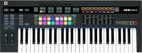 Novation 49SL MKIII: MIDI and CV Keyboard Controller with Sequencer