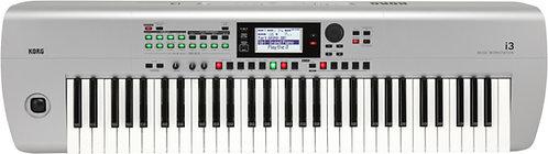 Korg i3 Music Workstation Matte Silver- 61 keys, 790 sounds, 59 drum kit