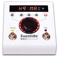 Eventide H9 Max: Preloaded with 49 effect algorithms and 99 presets.