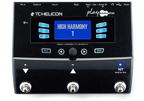 TC-Helicon PLAY ACOUSTIC: Vocal and Acoustic Guitar Effects Stompbox