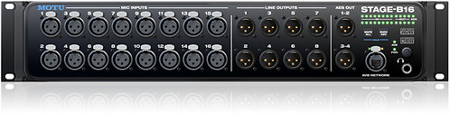 MOTU Stage-B16 USB2/AVB Ethernet Audio Interface with 16 mic pres, 8 output