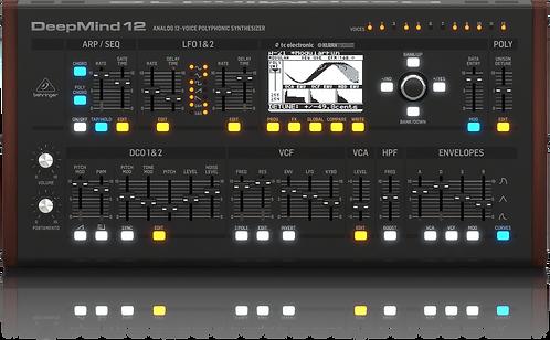 Behringer DEEPMIND 12D: True Analog 12-Voice Polyphonic Desktop Synthesizer