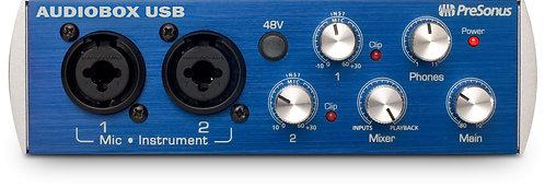 PreSonus AudioBox USB 96 2x2 USB 2.0 / 96kHz, w/ 2 Mic inputs, Studio One Artist