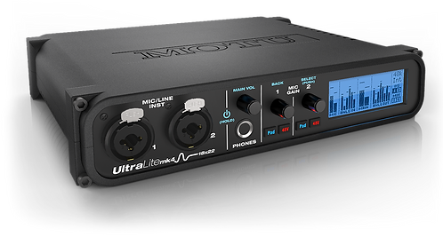 MOTU UltraLite-mk4 18-in/22-out, 24-bit/192kHz USB 2.0 Audio/MIDI Interface