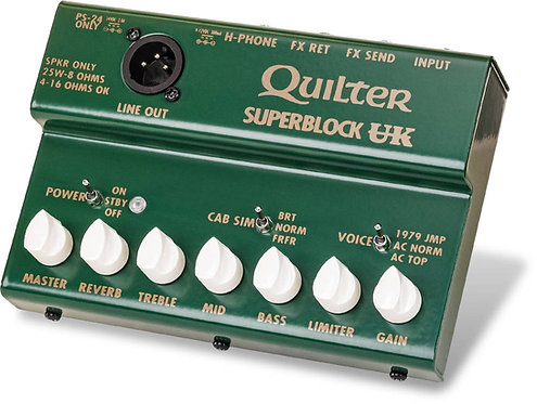 Quilter SuperBlock UK: 25 Watt amp W/ Three Voicings in a pedal Board Amp