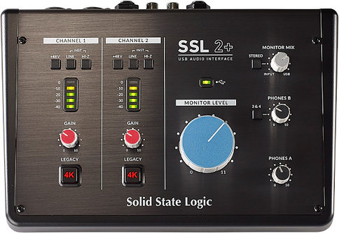 SSL SSL 2+: 2-In/4-Out USB-C Audio Interface
