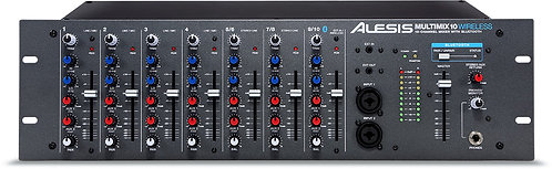 Alesis MultiMix 10 Wireless 10-Channel 3RU mixer with Bluetooth audio