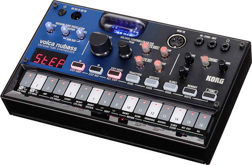 Korg Volca Nubass with a Nutube new-generation vacuum tube in its oscillator