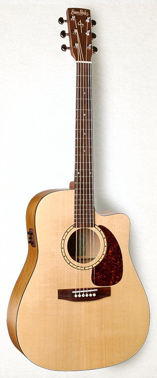 Simon & Patrick Woodland CW Spruce QIT: Cut Away Spruce Top W/ Q1T Electronics