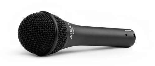 Audix OM6 Vocals, lead and backing, with very wide and flat frequency response