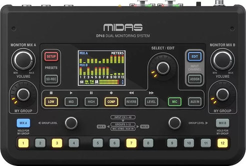 Midas DP48: Dual 48 Channel Personal Monitor Mixer