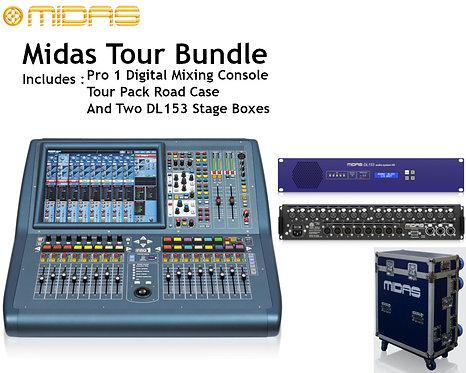 MIDAS PRO1 Tour Bundle: 1x PRO1TP (With Road Case) and 2x DL153 Stage Boxes