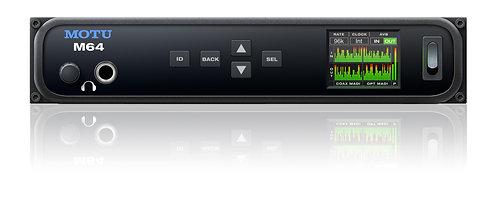 MOTU M64 128x128 USB/AVB-TSN I/O with 1x BNC MADI I/O and 1x optical MADI i/O