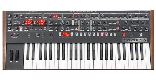 Sequential Prophet 6 Keyboard 6-Voice Polyphonic Analog Synthesizer