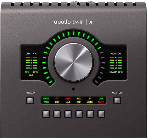 UA Apollo Twin X w/ DUO Processing (Desktop/Mac/Win/TB3)