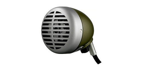 "Shure 520DX: ""Green Bullet"" Mic For Harmonica"