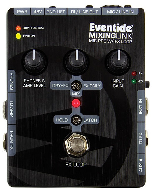 Eventide MixingLink: High quality mic pre with FX loop in a compact form factor