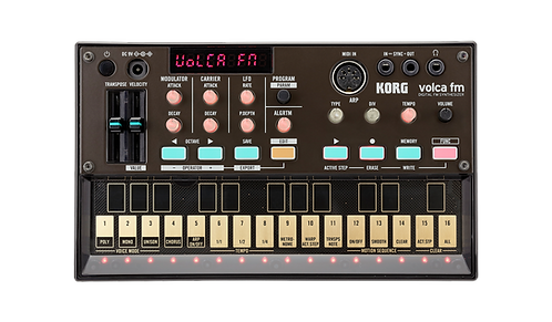 KORG Volca Fm Volca with 6-OP, 3-Voice Polyphonic FM Synthesis, Presets, Chorus,