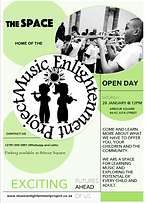 The Music Enlightenment Project. Braamfontein, Juta Street.