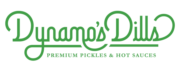 Dynamo's Dills Premium Pickles and Hot Sauces logo