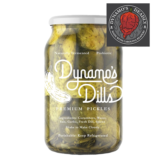 Dynamo's Deadly Dills - Premium Deadly Spicy Full Sour Dill Pickles