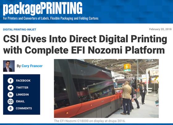 CSI Dives Into Direct Digital Printing