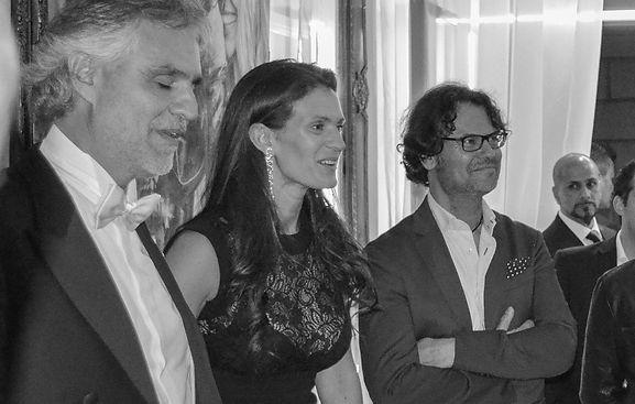 Andrea Bocelli attend Marcello Manca Portraits Vernissage