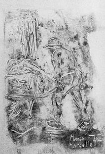 Marcello Manca drawing pencil art