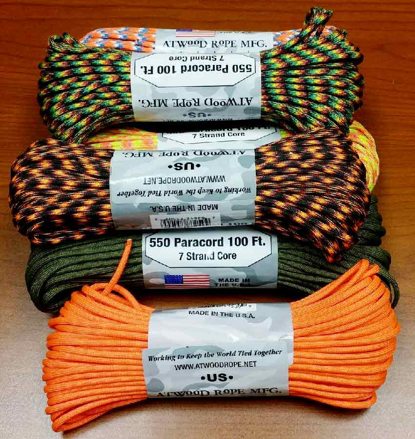 550 Paracord - $$7.99 for 100 feet
