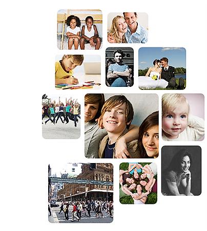 Immagini di persone nel sociale