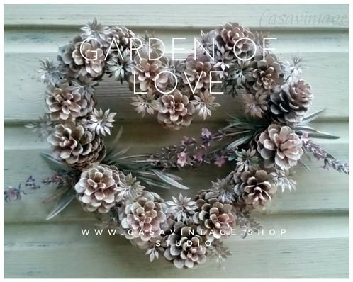 Decoracion De Navidad Corona Garden Of Love - Corona-navidea