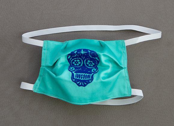 Royal Blue Sugar Skull Mask
