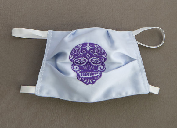 Purple Sugar Skull Mask