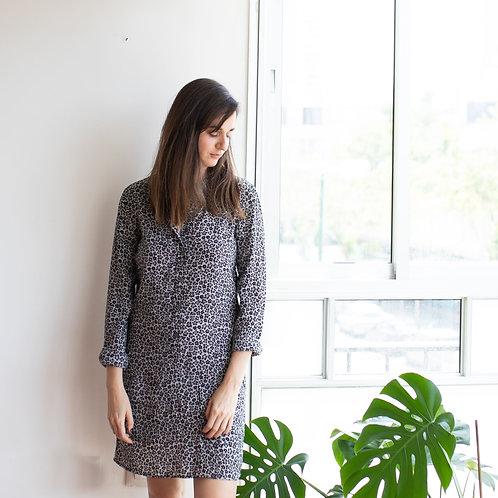 Silky chemisier dress