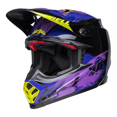 Bell MX 2022 Moto-9S Flex Adult Helmet Slayco Black/Purple