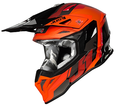 Just1 J39 Reactor Helmet Orange/Black Gloss