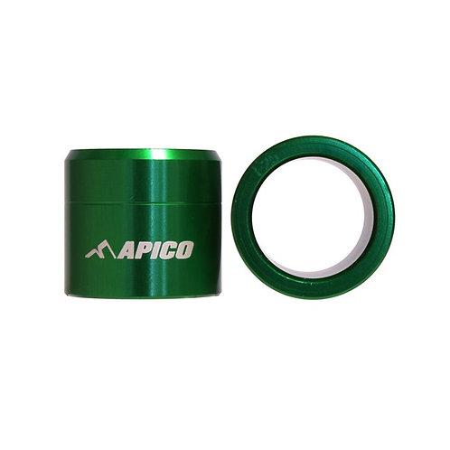 Apico Front Wheel Spacers KXF450 19-20 Green