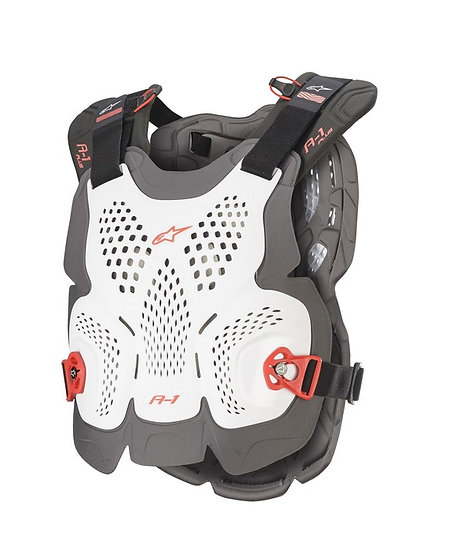 ALPINESTARS A1 PLUS CHEST PROTECTOR WHITE/ANTHRACITE/RED