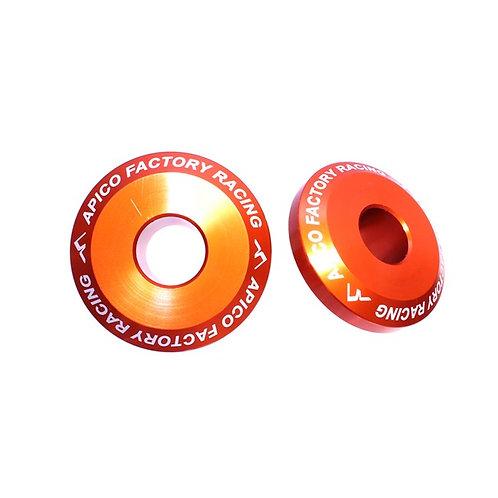 Apico Rear Wheel Spacers Pro SX-SXF 125-450 03-12 SX85 12-20 Orange